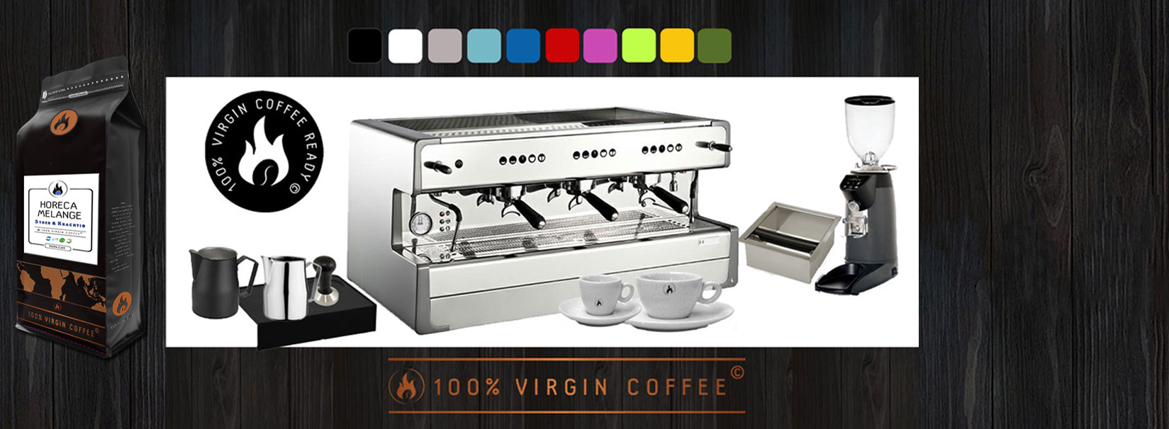100% VIRGIN COFFEE READY